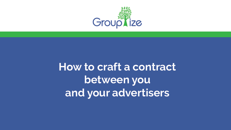 How to craft a contract between you and your advertisers