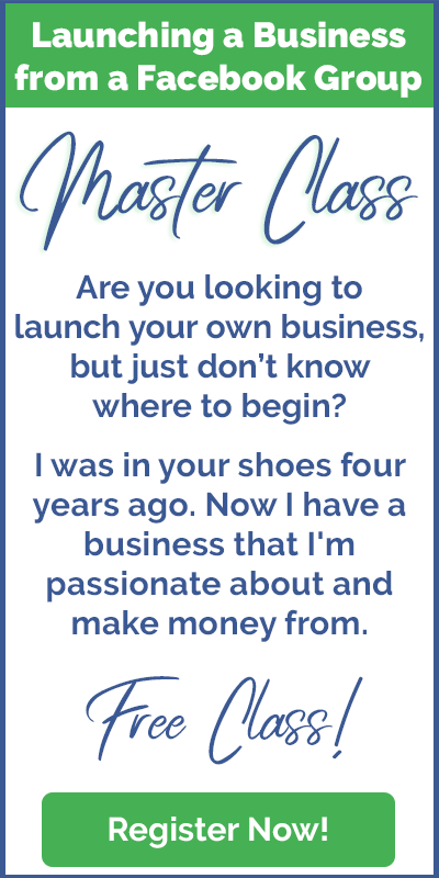 Launching a business from a Facebook group master class: https://mailchi.mp/grouptize/masterclass
