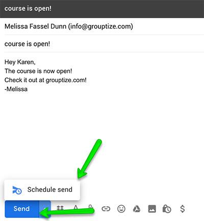 schedule send email