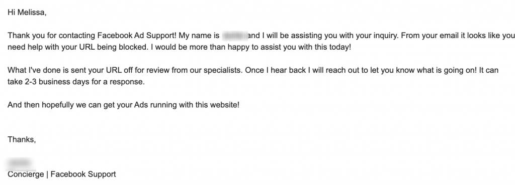 support response email