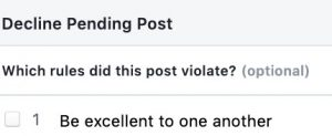 pending post violation