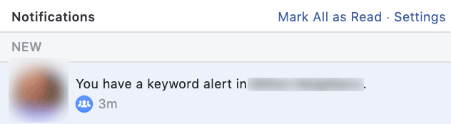 keyword alerts