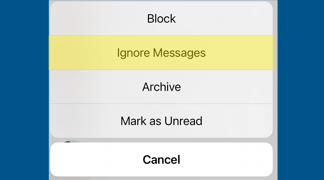 How to ignore Facebook messages without alerting the sender