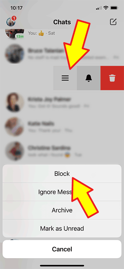 Facebook messenger - how to block messages