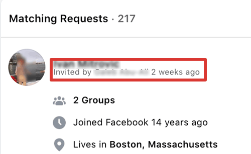 member requests - how to see who invited members to your facebook group