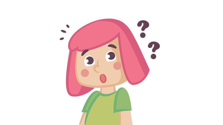 confused girl