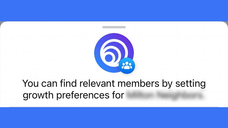 Facebook grow group preferences