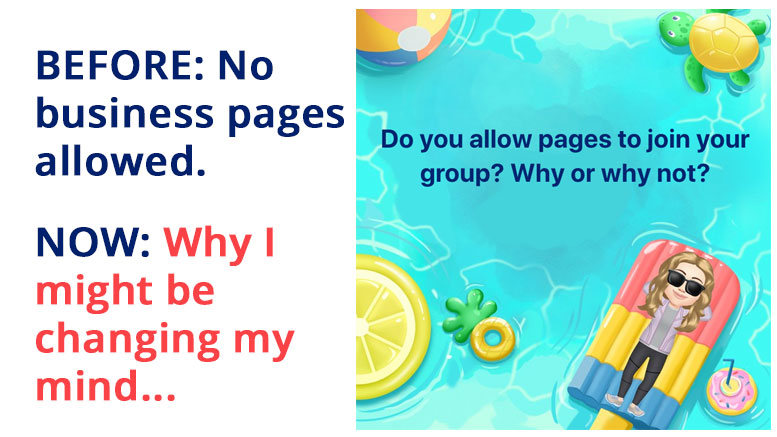 Should you allow Facebook business pages to join your group?
